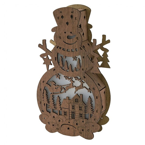 product thumbnail image for Nordic Basswood LED Snowman