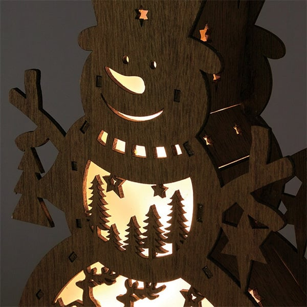 product image for Nordic Basswood LED Snowman