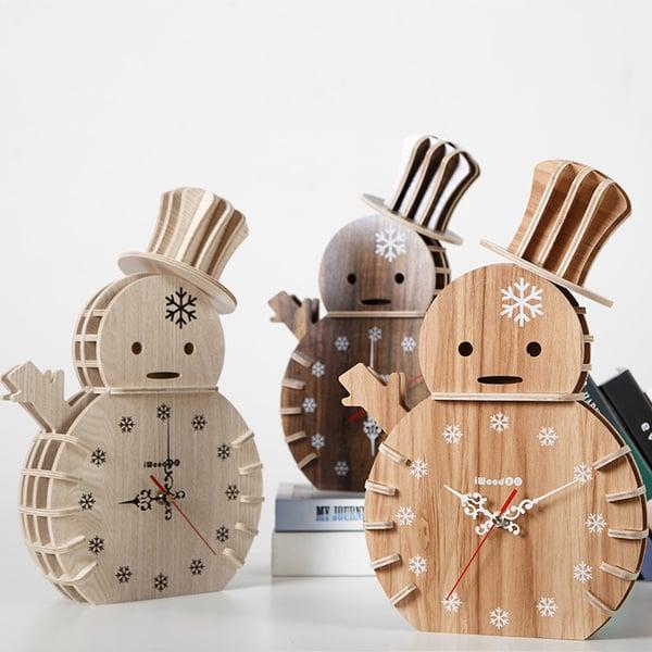 Bewood Snowman Clock