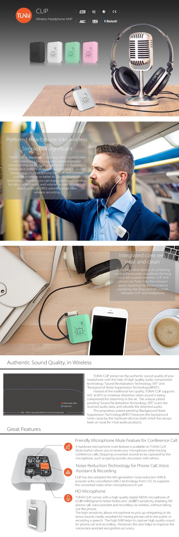 Tunai Clip Wireless Preferred Headphone Into Wireless