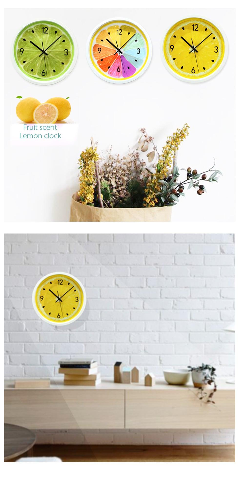 Fruit Lemon Wall Clock Lemon On Your Wall