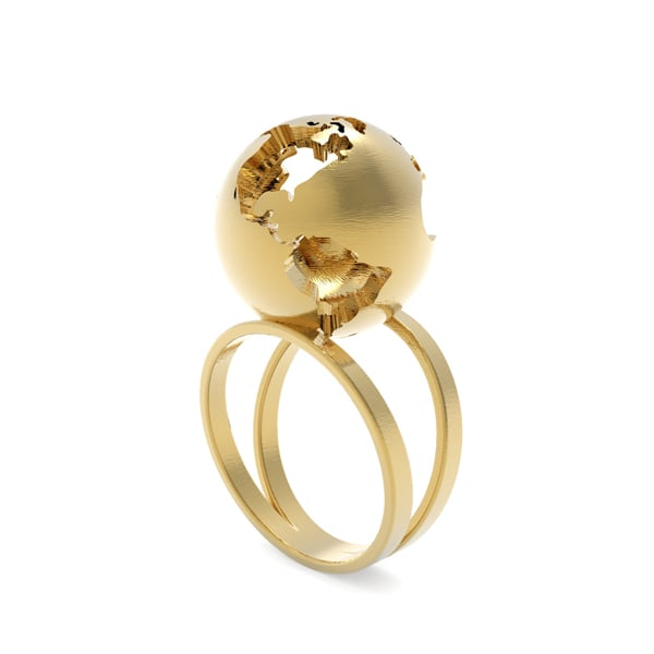 World Globe Ring