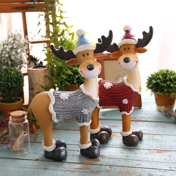 Cute VIntage Deer Sculpture
