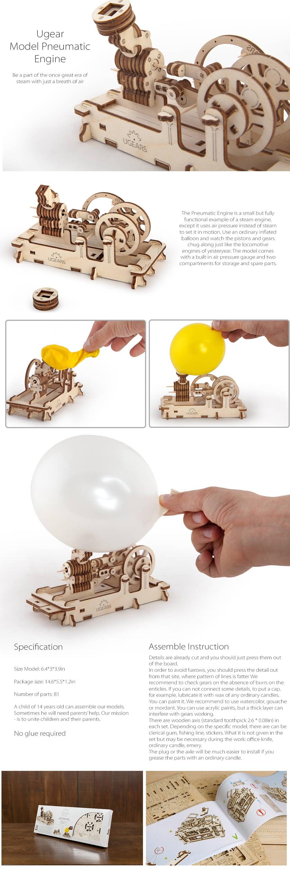 Ugears 3D Self Propelled Model Engine A Unique Mechanical 3D Puzzle