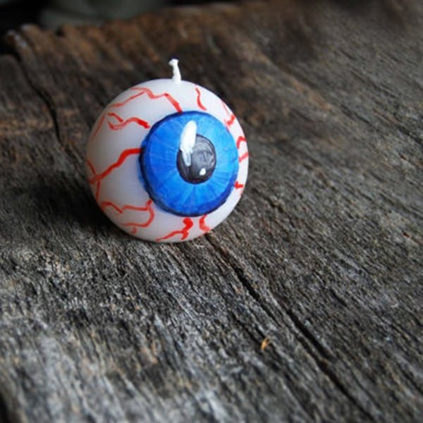 Creepy Eye Ball Candle