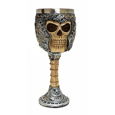 product image for Skeletal Skull Wine Goblet