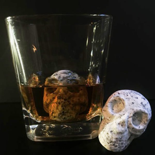 WHISKEY BONES Hand Carved Whiskey Stones - Set of 2