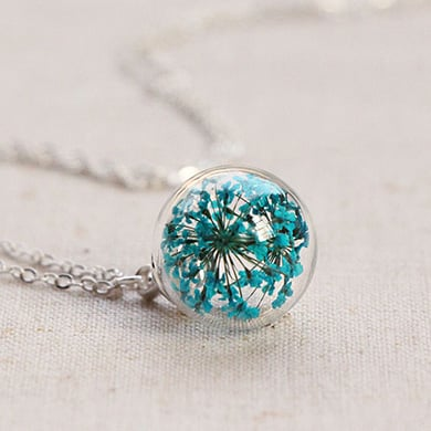 Queen Anne's Lace Sphere Pendant
