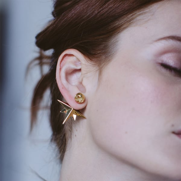 Compass One-Sided Earrings