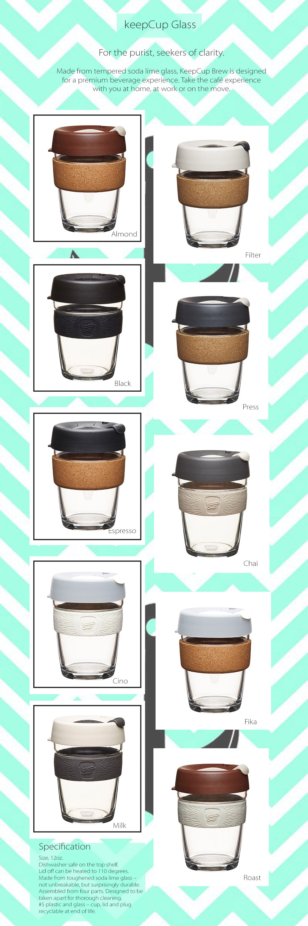 KeepCup Brew For The Purist, Seekers Of Clarity
