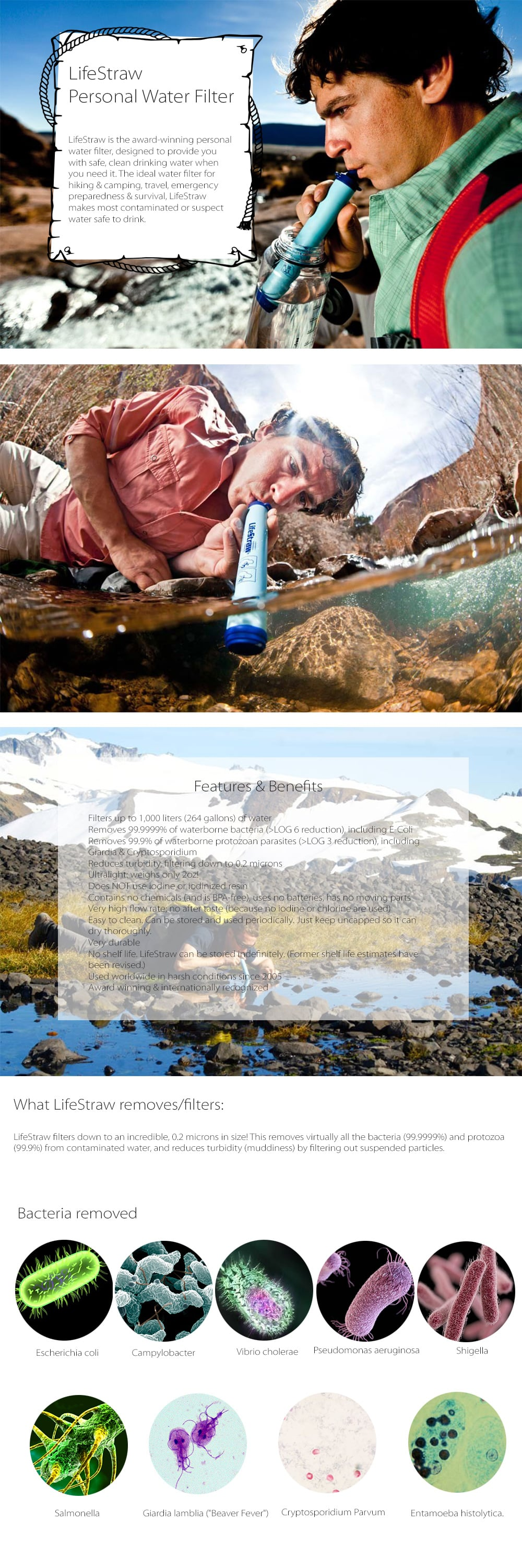 LifeStraw Personal Water Filter Designed To Provide You With Safe