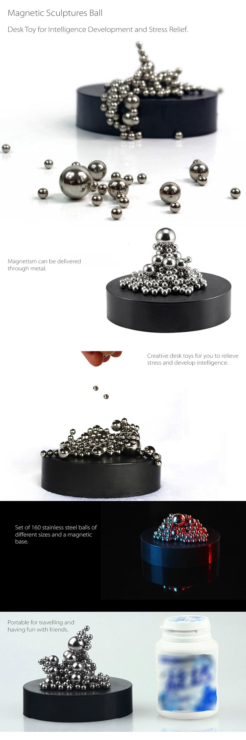 Magnetic Sculptures Ball Bring Fun To Your Workplace