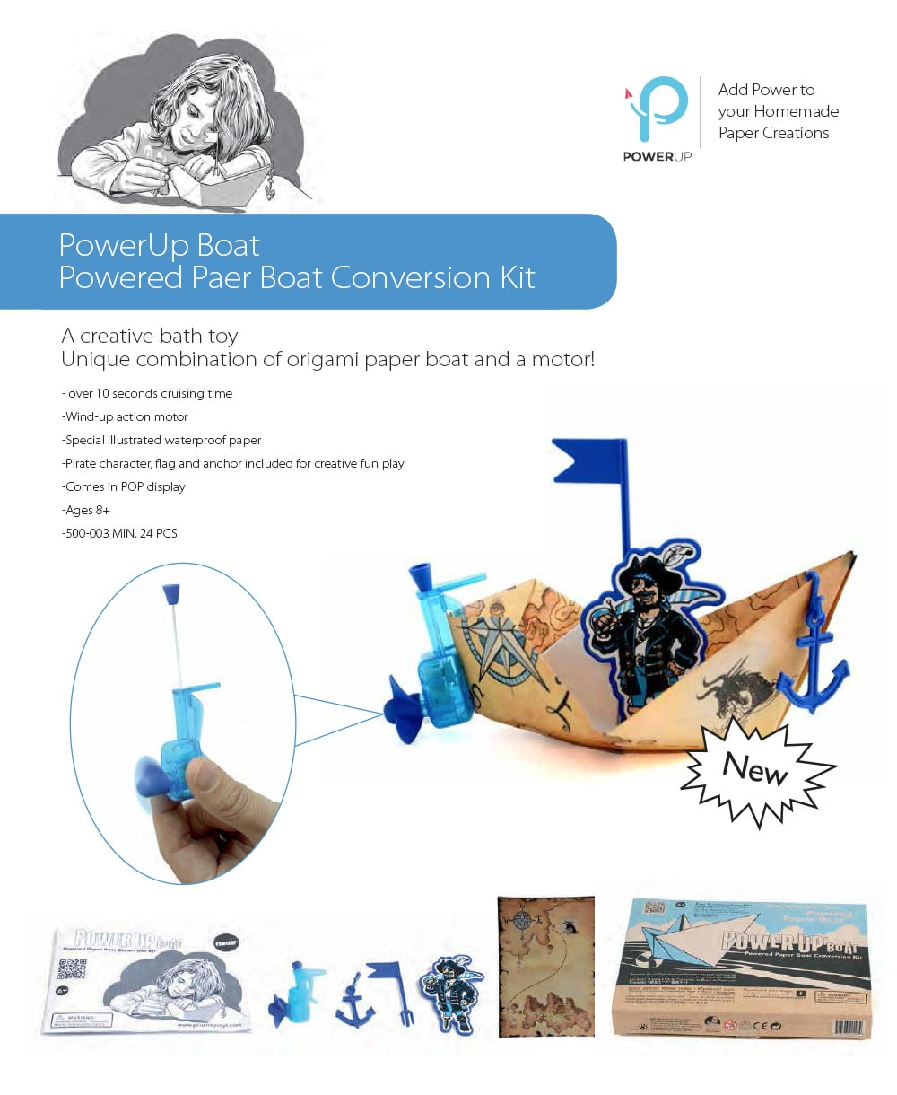 PowerUp Boat Powered Paper Boat Conversion Kit
