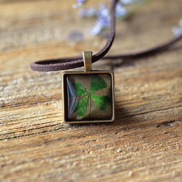 product image for Pressed Four Leaf Necklace