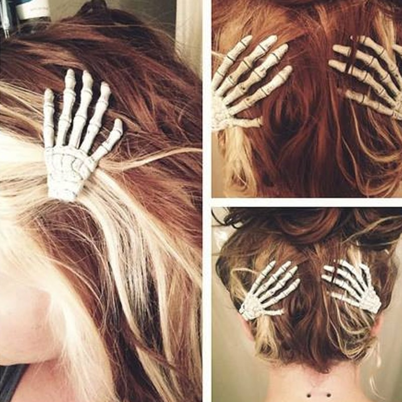 product image for Skeleton Hand Hair Clips - Set of Two