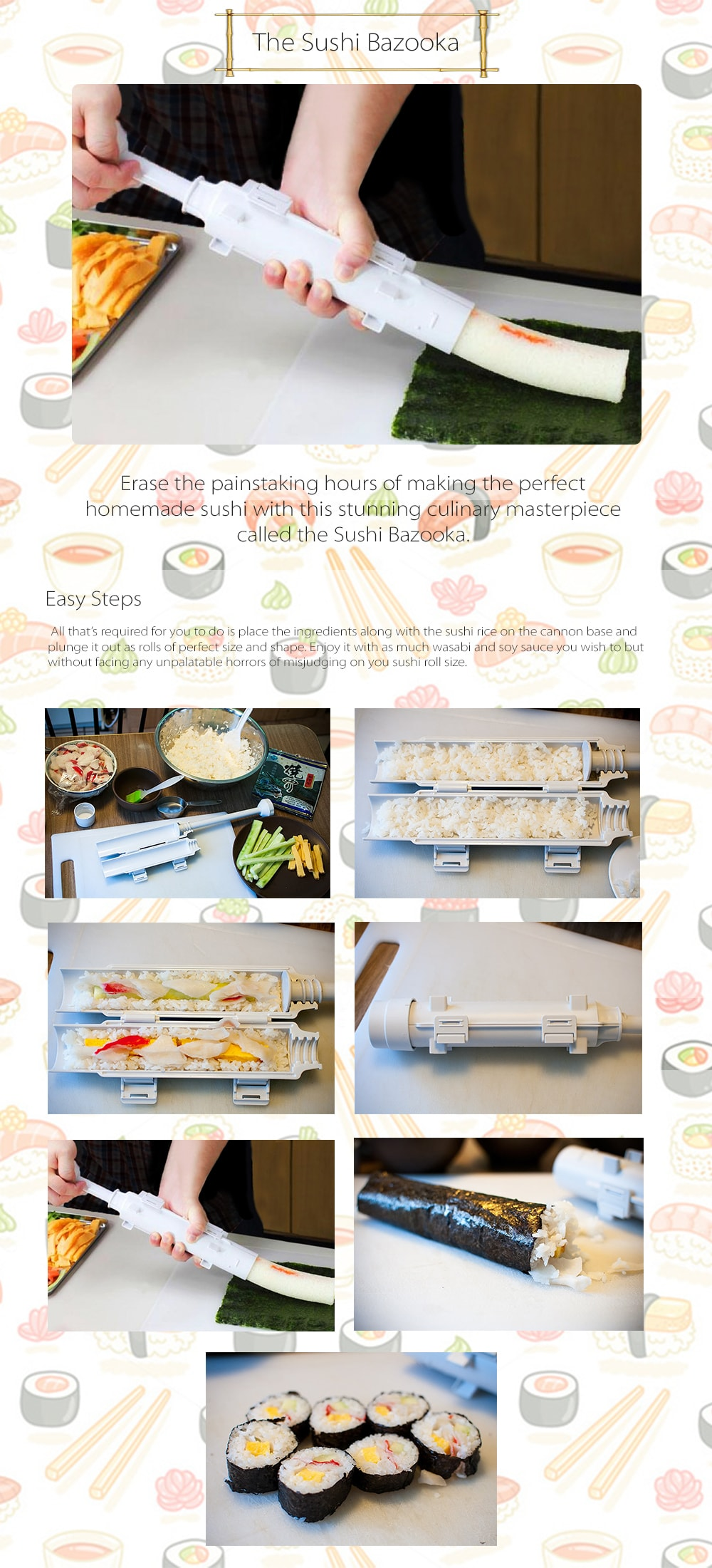 The Sushi Bazooka Make Your Own Perfect Sushi