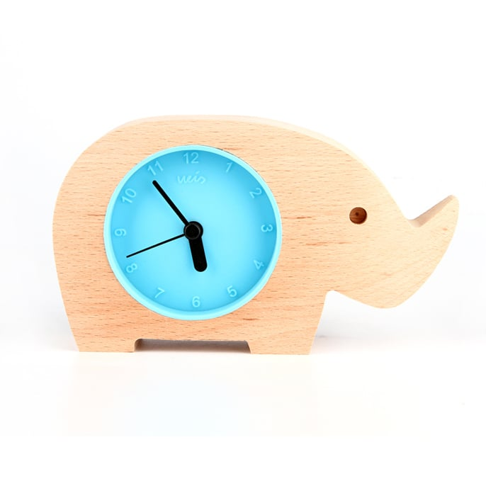 Handmade Elephant Wooden Clock