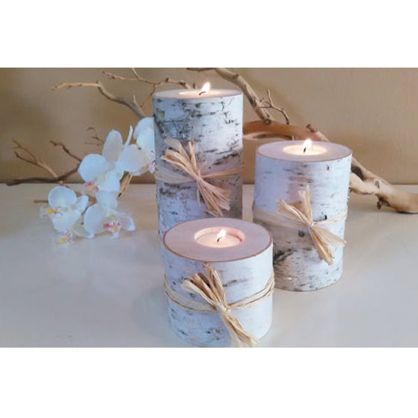 New Hampshire Birch Tree Candles (set of 3)