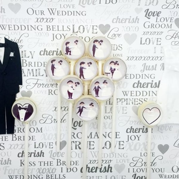 Wedding Lollipops (a set of 10)