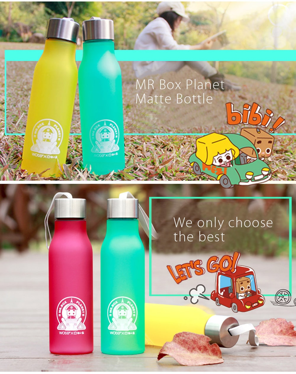 Mr. Box Matte Water Bottle Beautiful! Beautiful! Beautiful!