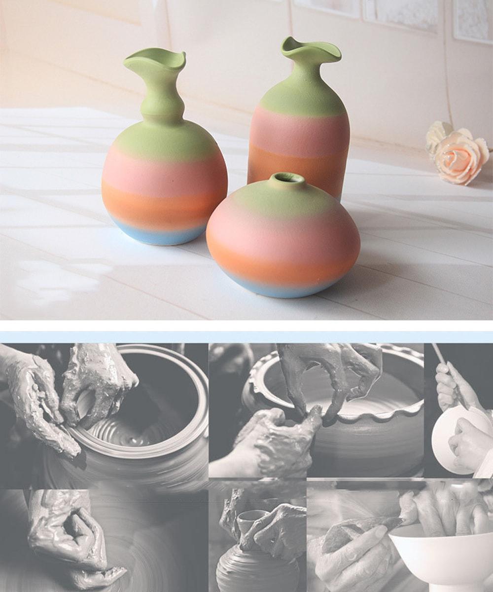 Rainbow Ceramic Vase Extraordinary masterpiece