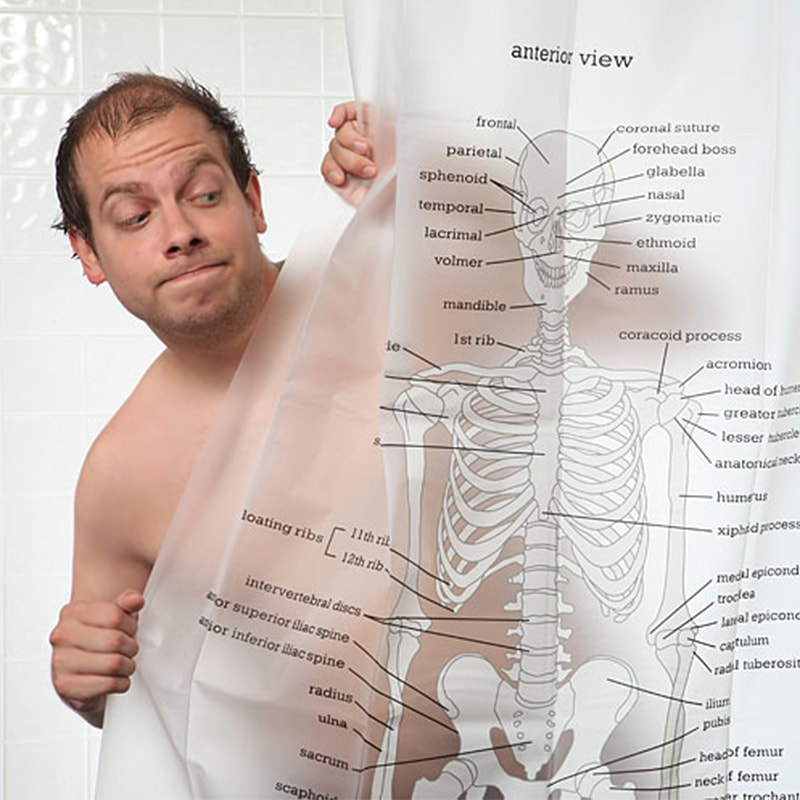 product image for Human Skeleton Shower Curtain