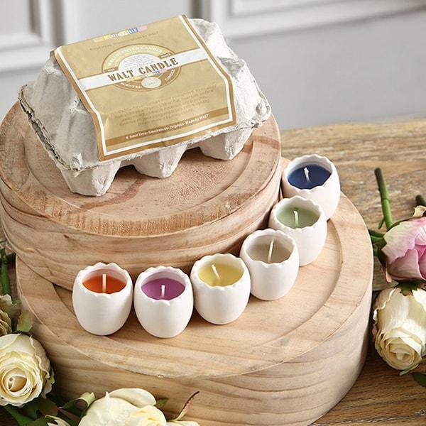 Nordic Eggshell Candle Set