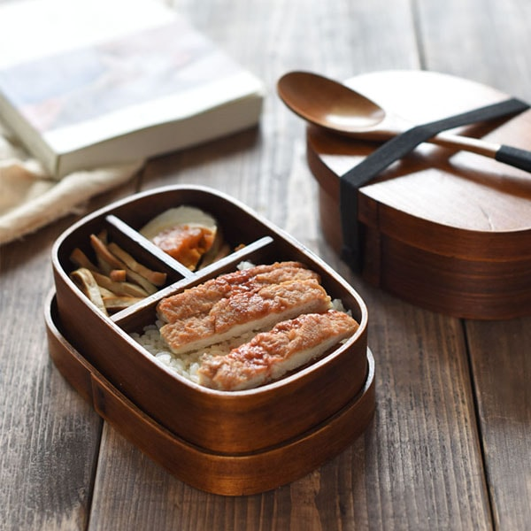 Traditional Wooden Bento Box