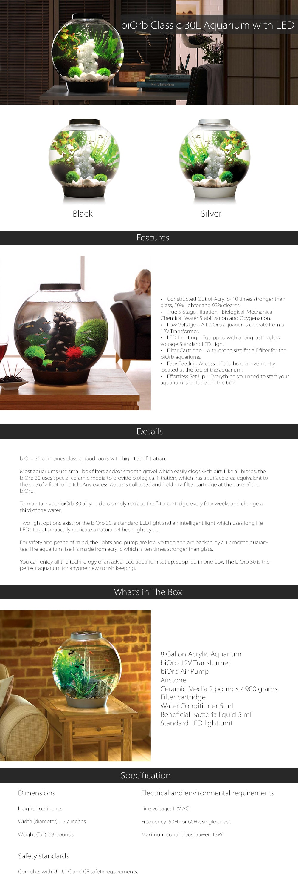 BiOrb 30 A Healthy Home For Your Fish