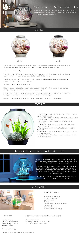 Baby BiOrb Aquarium With LED A Simple Starter Aquarium