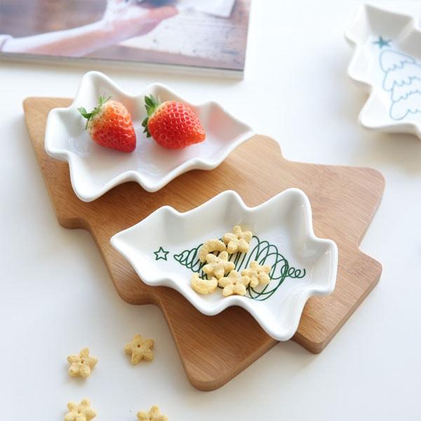 product image for Japanese Christmas Tree Shape Salad Plate