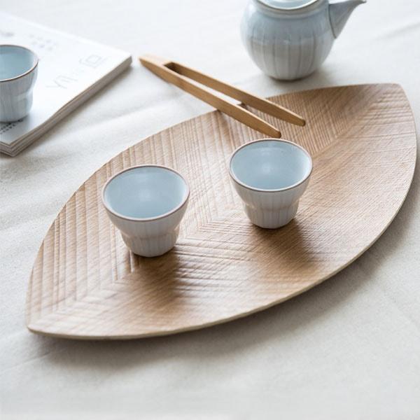 Leaf Shaped Wood Platter