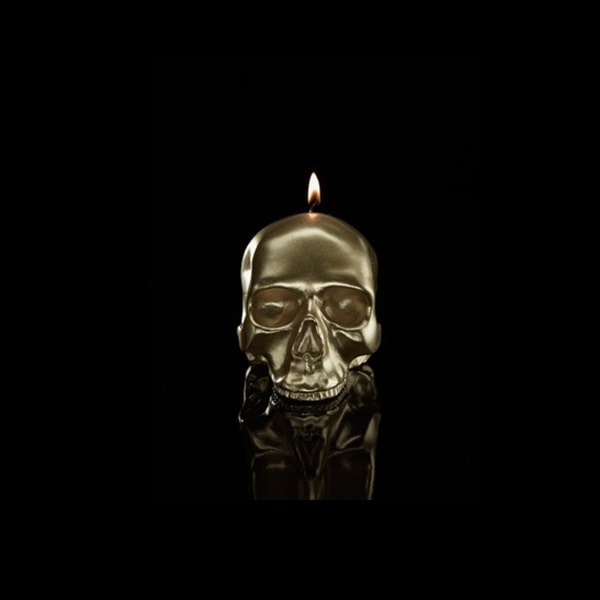 Skull Metallic Candle