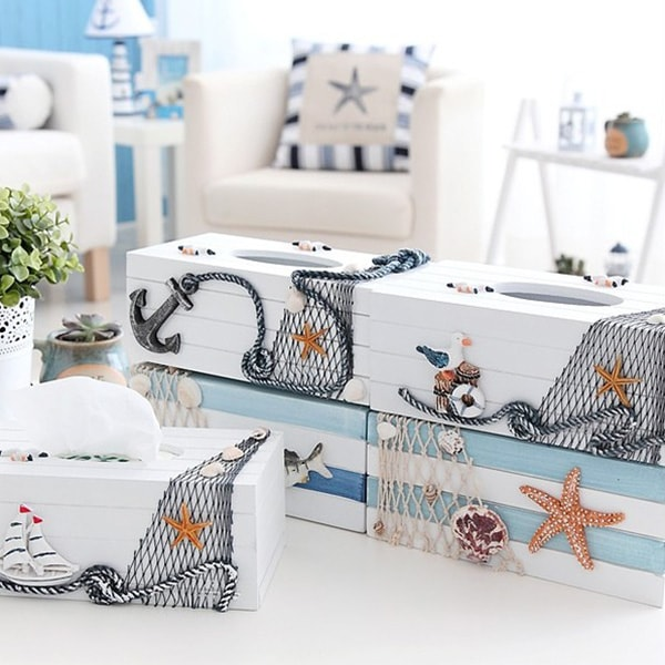 Nautical Style Tissue Box