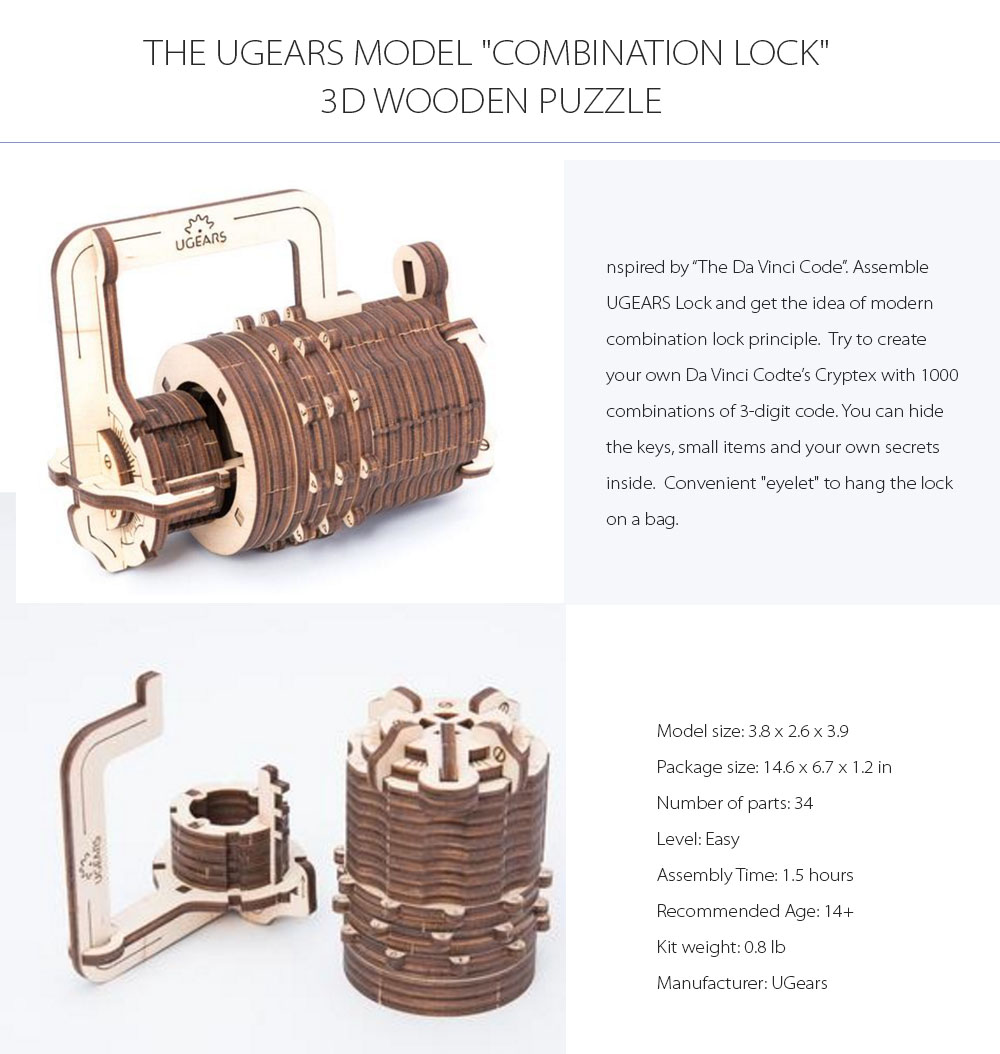 Ugears Combination Lock Combines Tech and Art Innovations