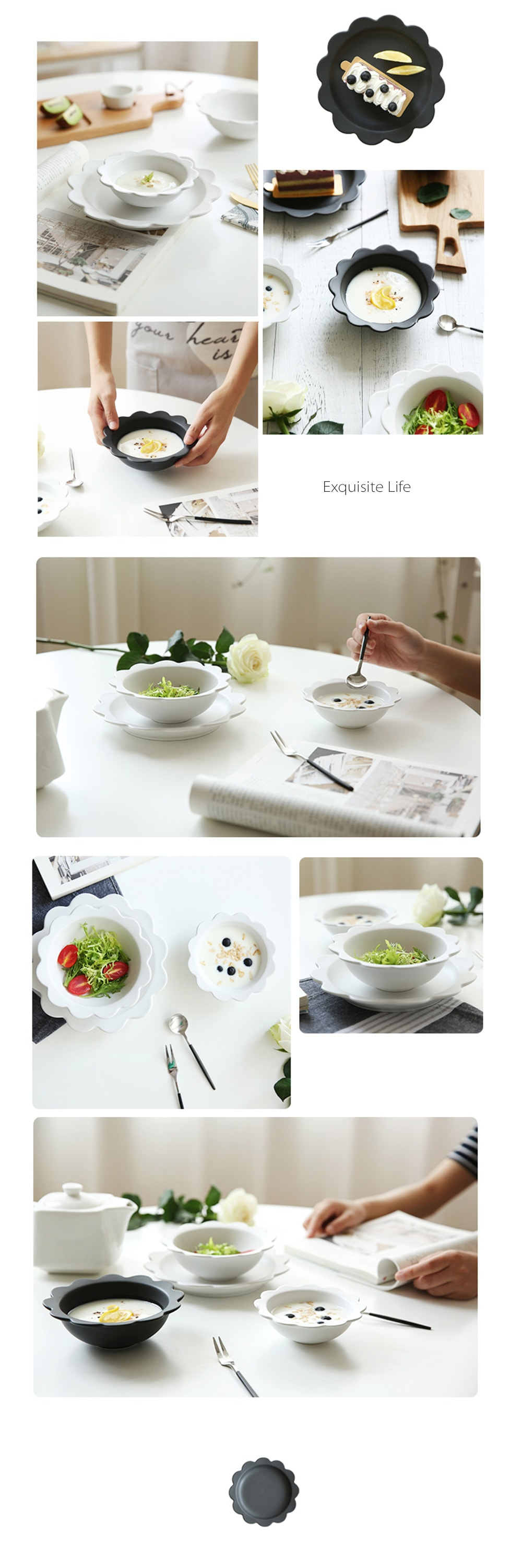 Ceramic Flower Bowl & Plate Set For Your Sweet Home