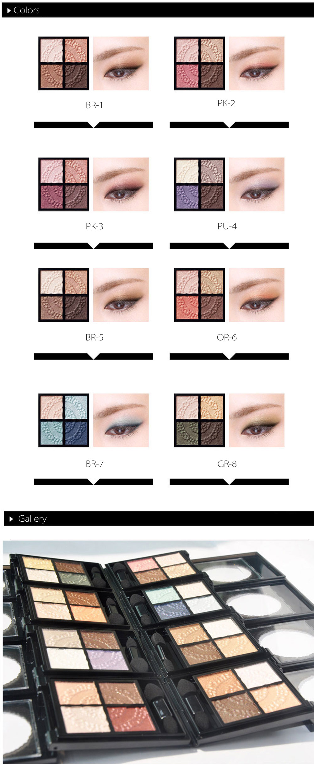 Kose Glossy Rich Eye Shadow Designed for Young Adults
