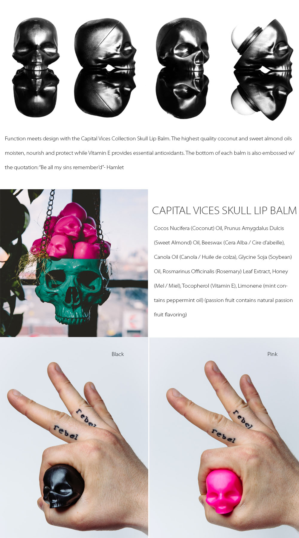 Capital Vices skull Lip Balm Function meets design