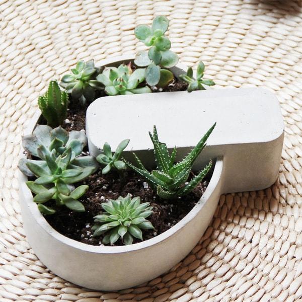 product image for Concrete Geometric Shape Succulent Planter