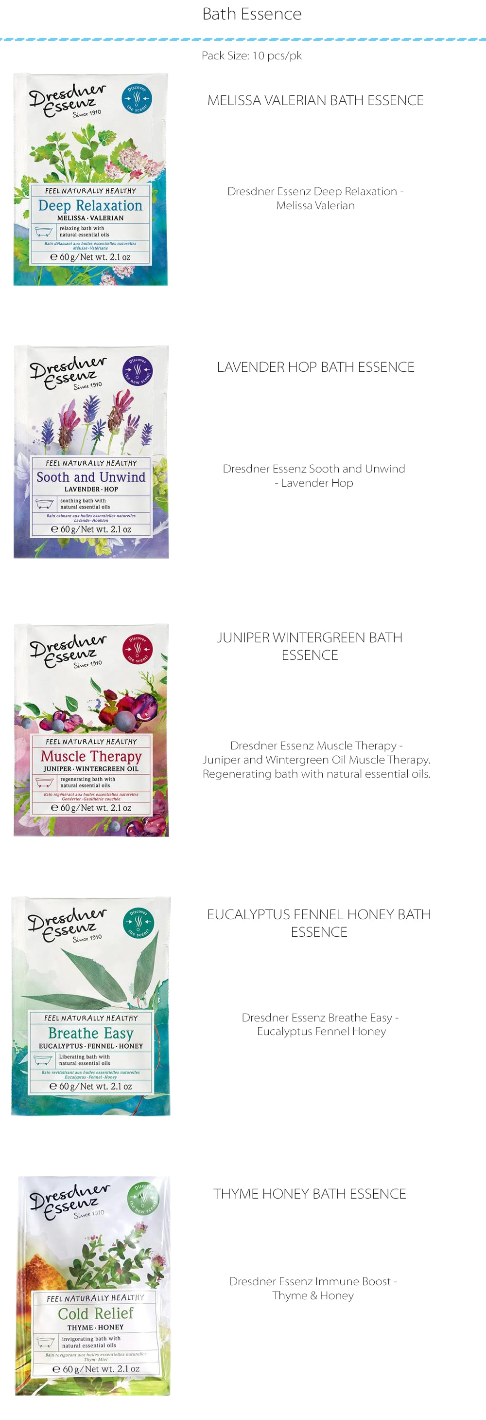 Dresdner's Wellness Bath Essence  From European Soap