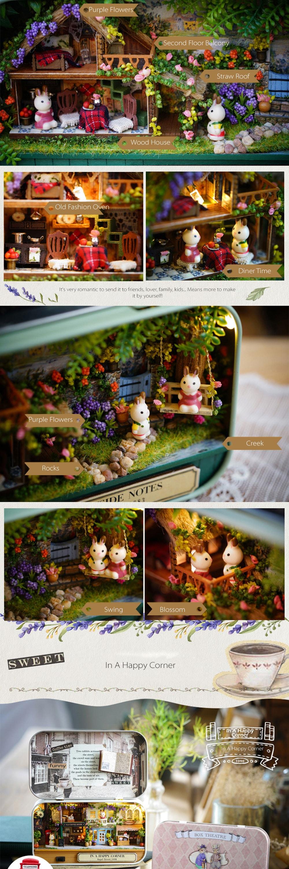 Miniature DIY Box Theatre Beautiful Dollhouse