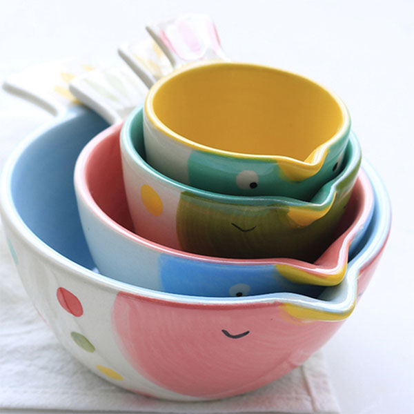 Hand Painted Bird Bowls (Set of 4)