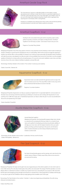 Soap Rock Unique Gem-Like Soap