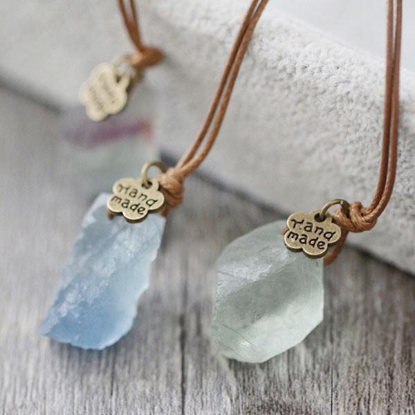 Vintage Fluorite Necklaces