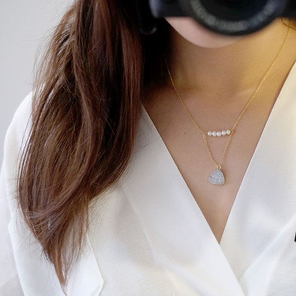 product image for Crystal Necklace with Pearl