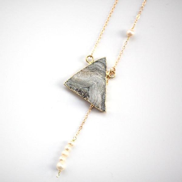 Grey Stone Necklaces