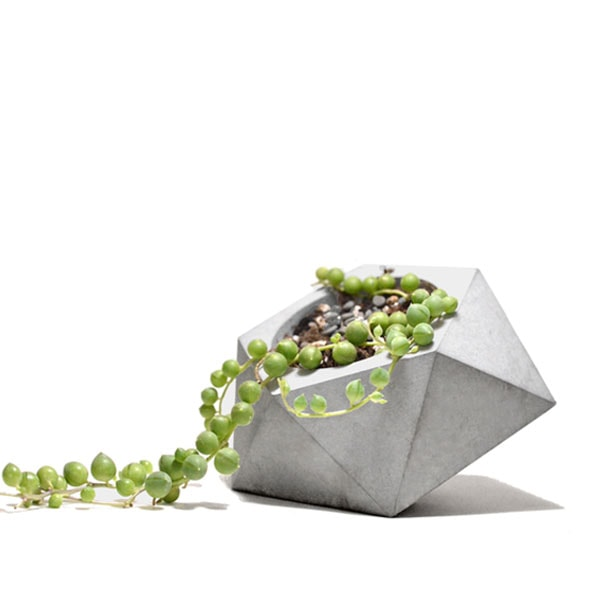 Diamond Shape Concrete Planter