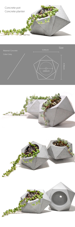 Diamond Shape Concrete Planter Unique Designs