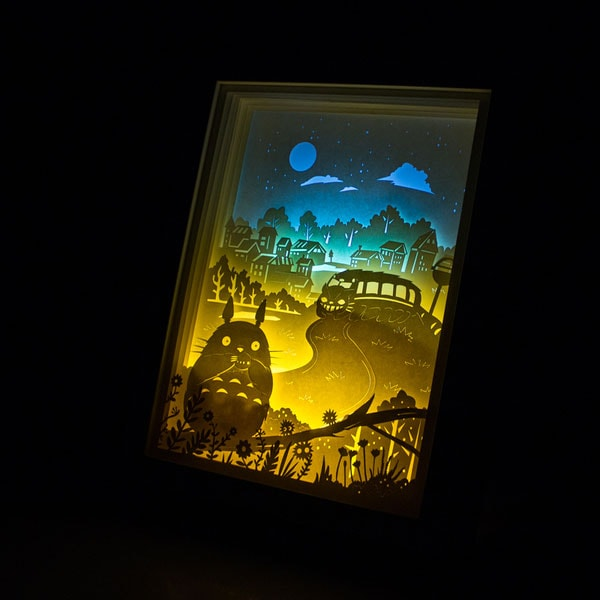3D Paper Art Night lights