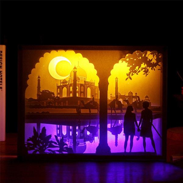 3D Paper City Night Lights